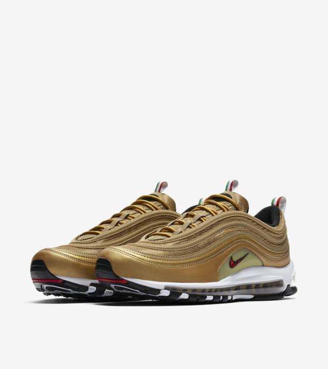 Nike Air Max 97 IT Metallic Gold & Varsity Red Data  WFJS49