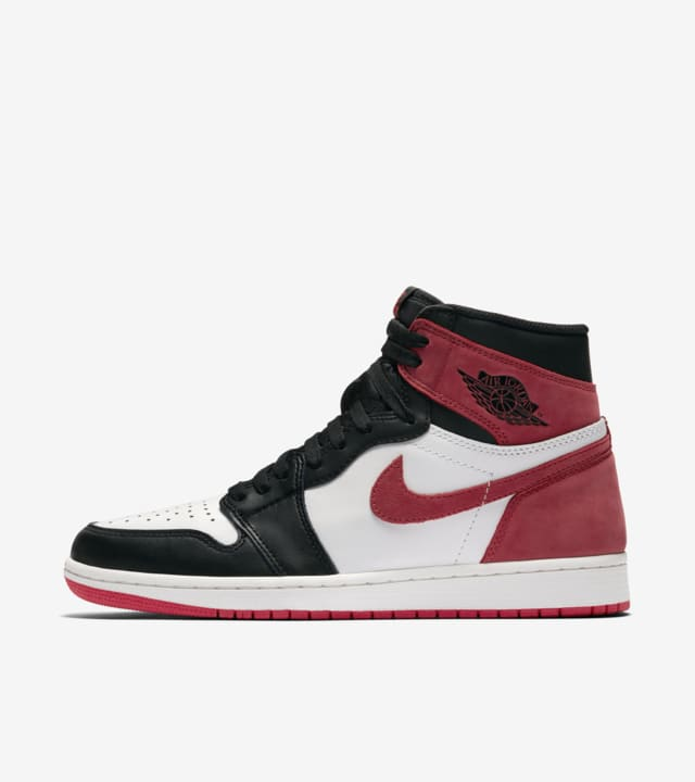 all black jordans with red