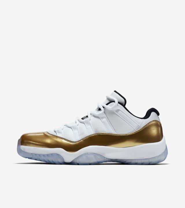 jordan 11 low golf white metallic gold