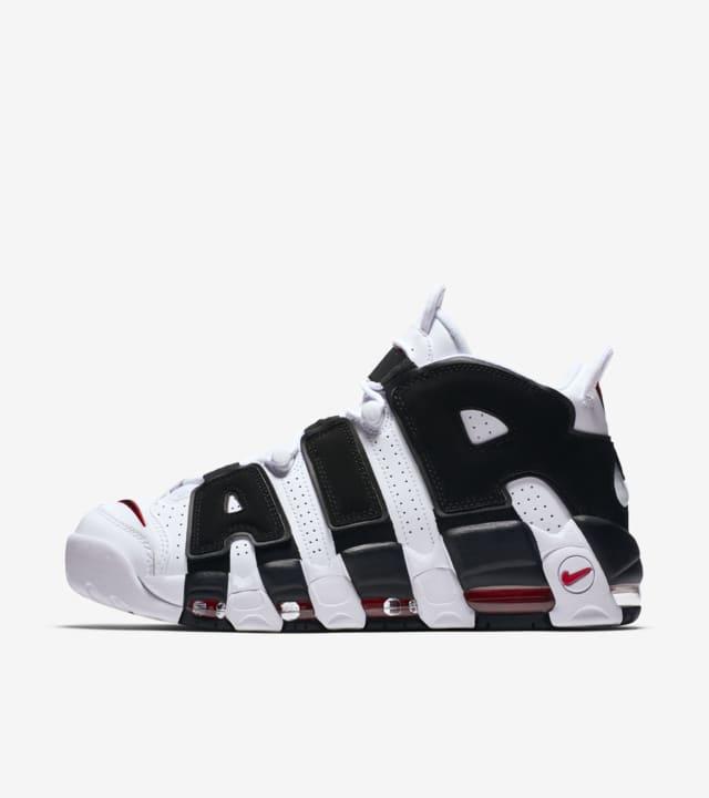 Ligeramente ángel Destino  Nike Air more Uptempo 96 'White & University Red & Black'. Nike SNKRS