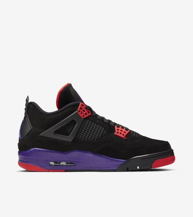 Air Jordan 4 'Black/Court Purple