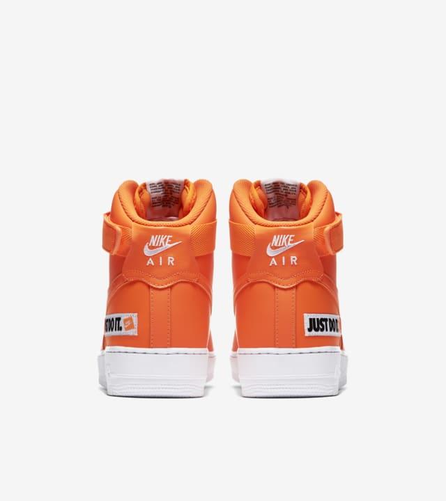 orange high top nike