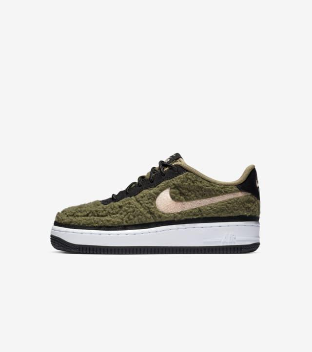 Nike BG Air Force 1 Shearling 'Olive