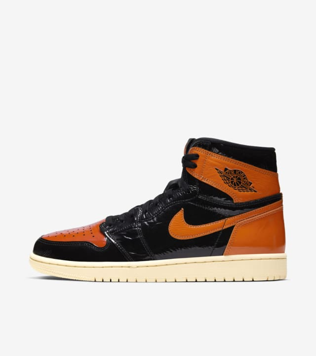 air jordan 1 noir et orange