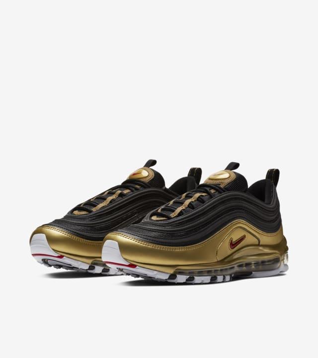 exposición seno Napier  Nike Air Max 97 'Black & Metallic Gold' Release Date. Nike SNKRS