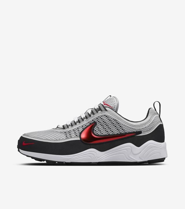 Nike Air Zoom Spiridon 'Silver \u0026 Red