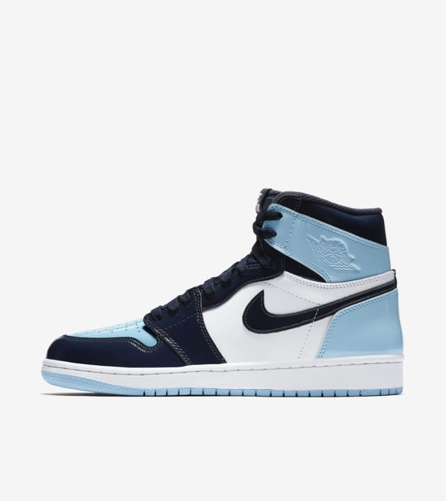 Women S Air Jordan 1 High Blue Chill Amp Obsidian Amp White Release Date Nike Snkrs Gb