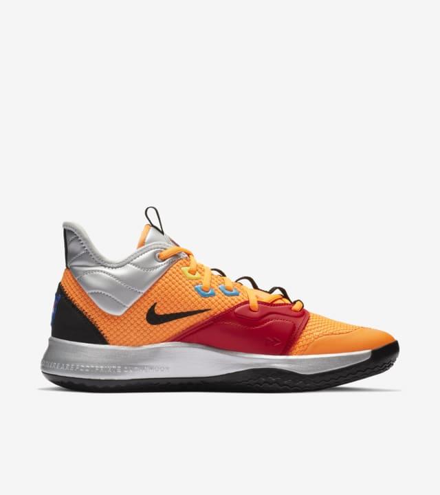 Nike PG 3 NASA 'Total Orange' Release