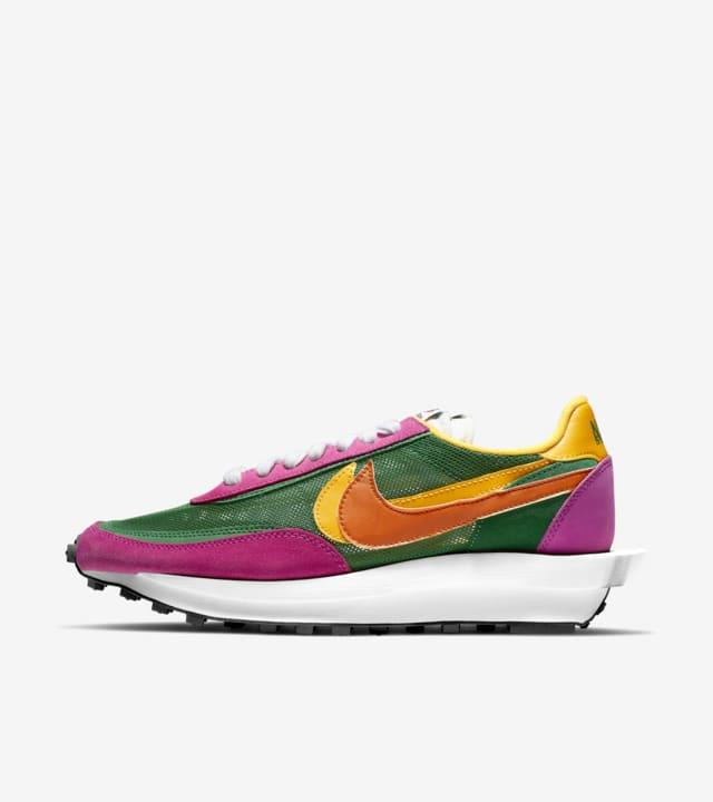 sacai x Nike LDWaffle 'Pine Green