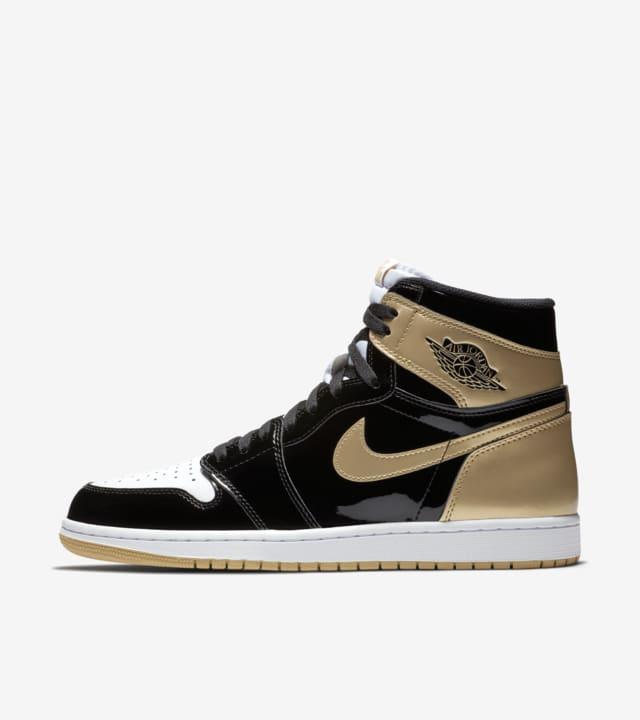 Nike Sport Air Jordan 1 RETRO BHM AJ1 oro e nero lucide