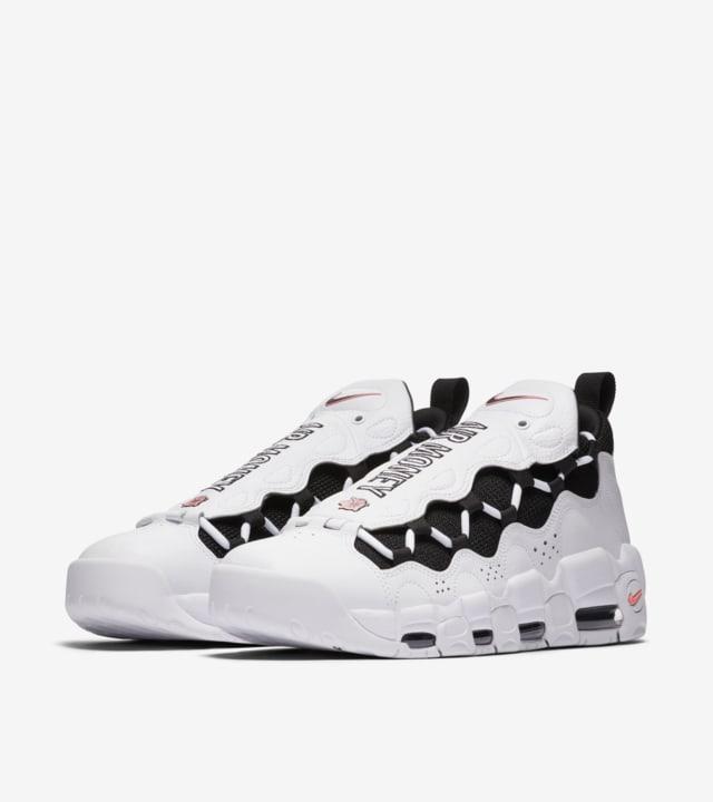 Víctor Honestidad Abandonado  Nike Air More Money 'White & Black & Coral Chalk' Release Date. Nike SNKRS