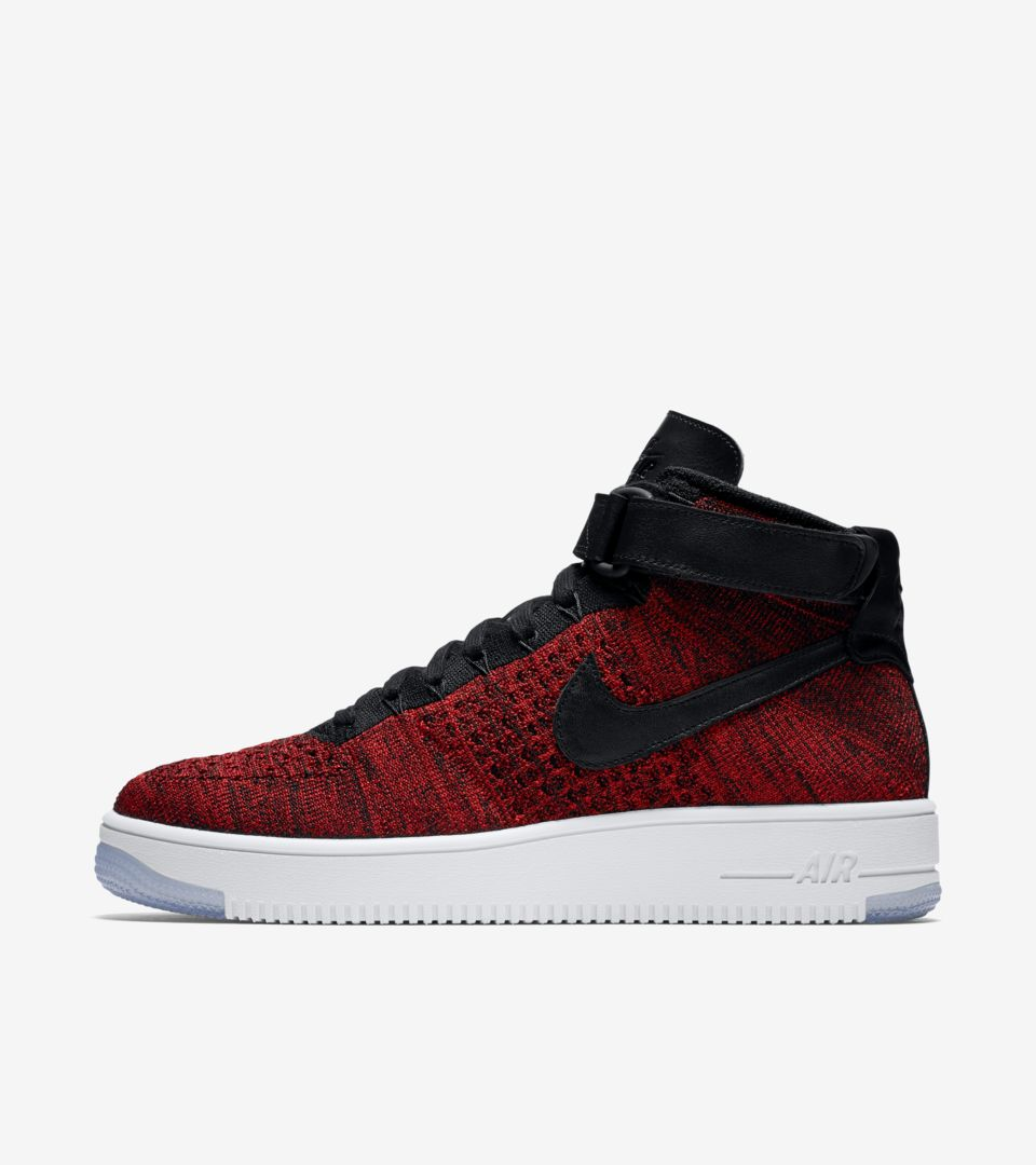 Release Date Force Air Red 1 Ultra Flyknit Nike 'university Black' amp; Bzvw5w