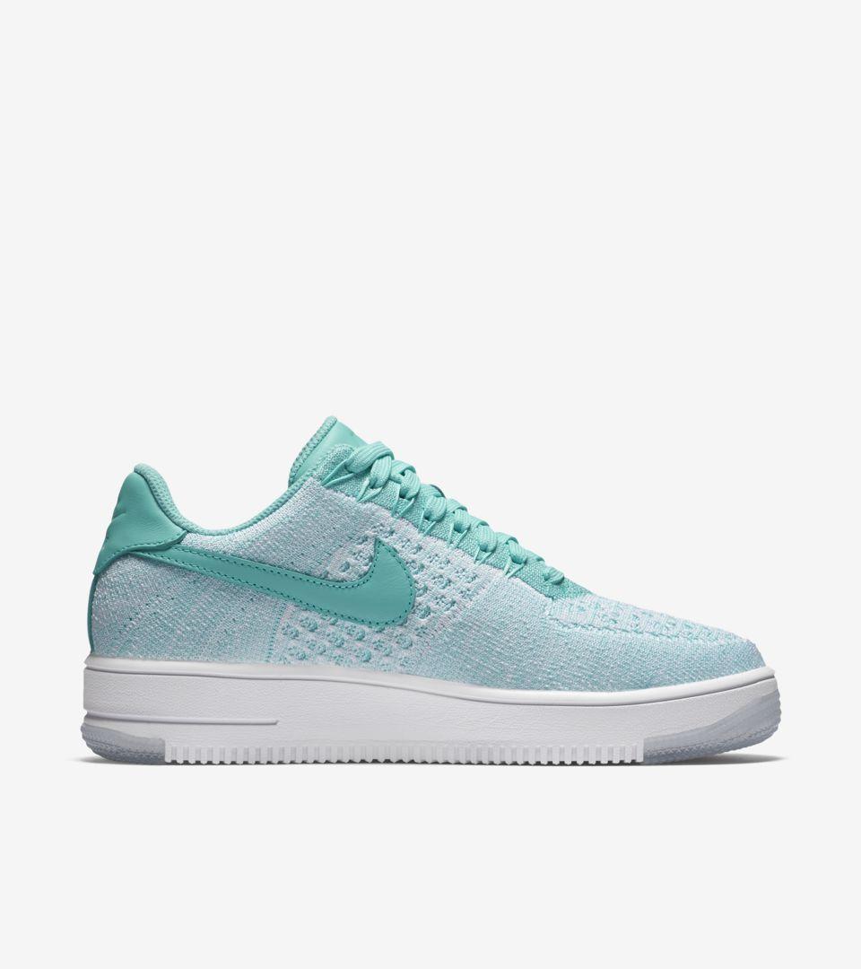 Women's Nike 1 Flyknit Low Air Force Ultra Turquoise'Nike 'hyper rCdxBeo