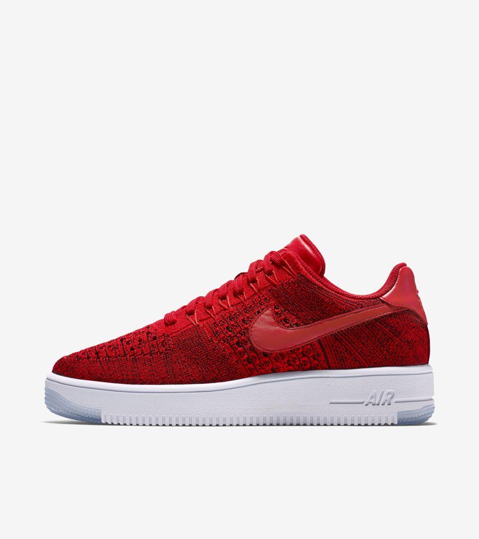 Flyknit Force Red' Release Air Date 'university Ultra Nike 1 Low 3R54jcqSAL