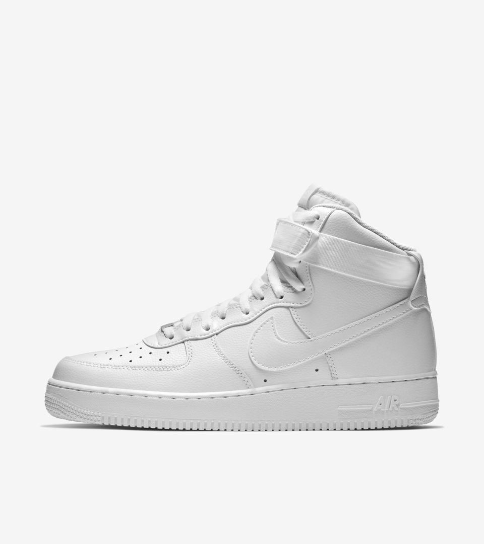 best sneakers 87f53 23504 Nike Air Force 1 High 'Triple White'. Nike⁠+ SNKRS