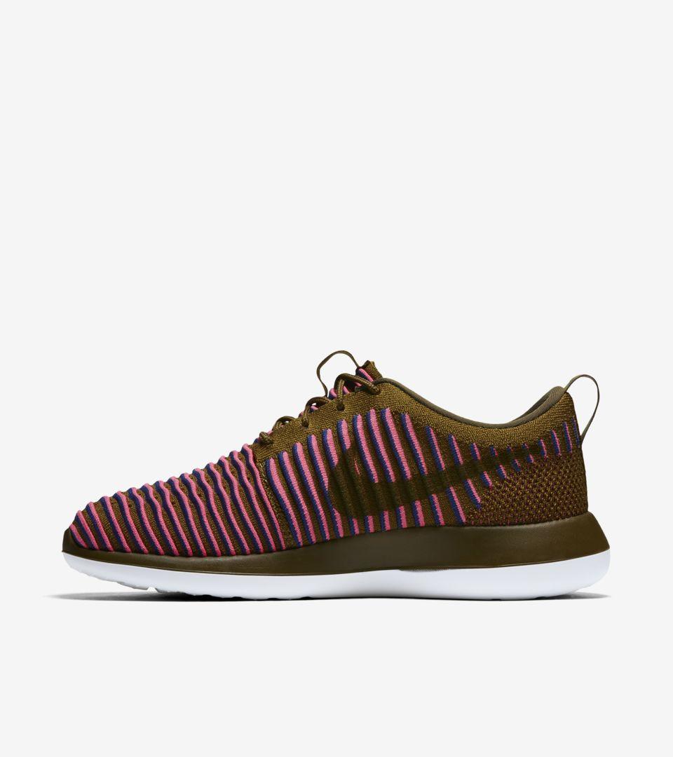 edf1dc8ef1 Women's Nike Roshe 2 Flyknit 'Olive & Pink Blast'. Nike+ SNKRS