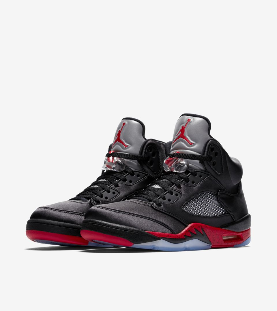 f31a7a72af Air Jordan 5  Black   University Red  Release Date. Nike⁠+ SNKRS