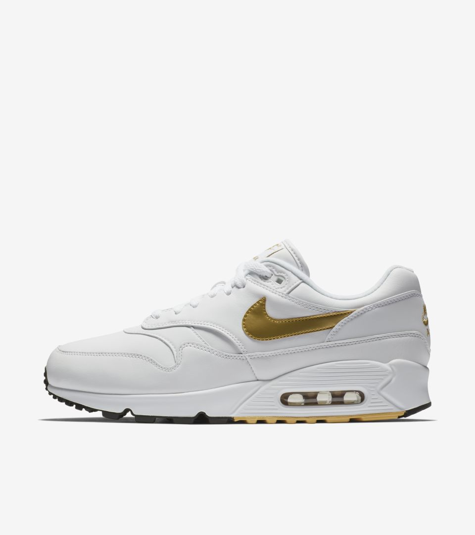 bd93dacf6aff Nike Air Max 90 1  White  amp  Metallic Gold  Release Date. Nike⁠+ Launch FI