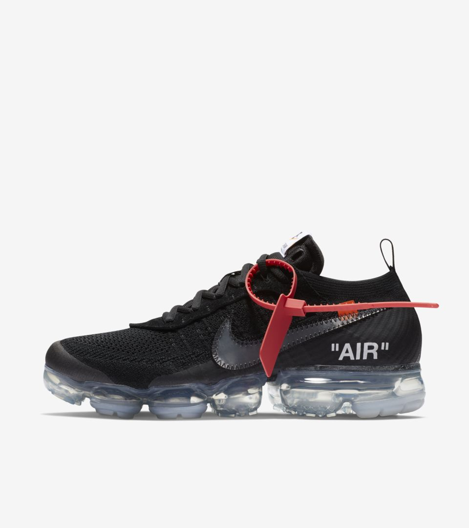 Nike The Ten Air Vapormax Off White 'Black' Release Date