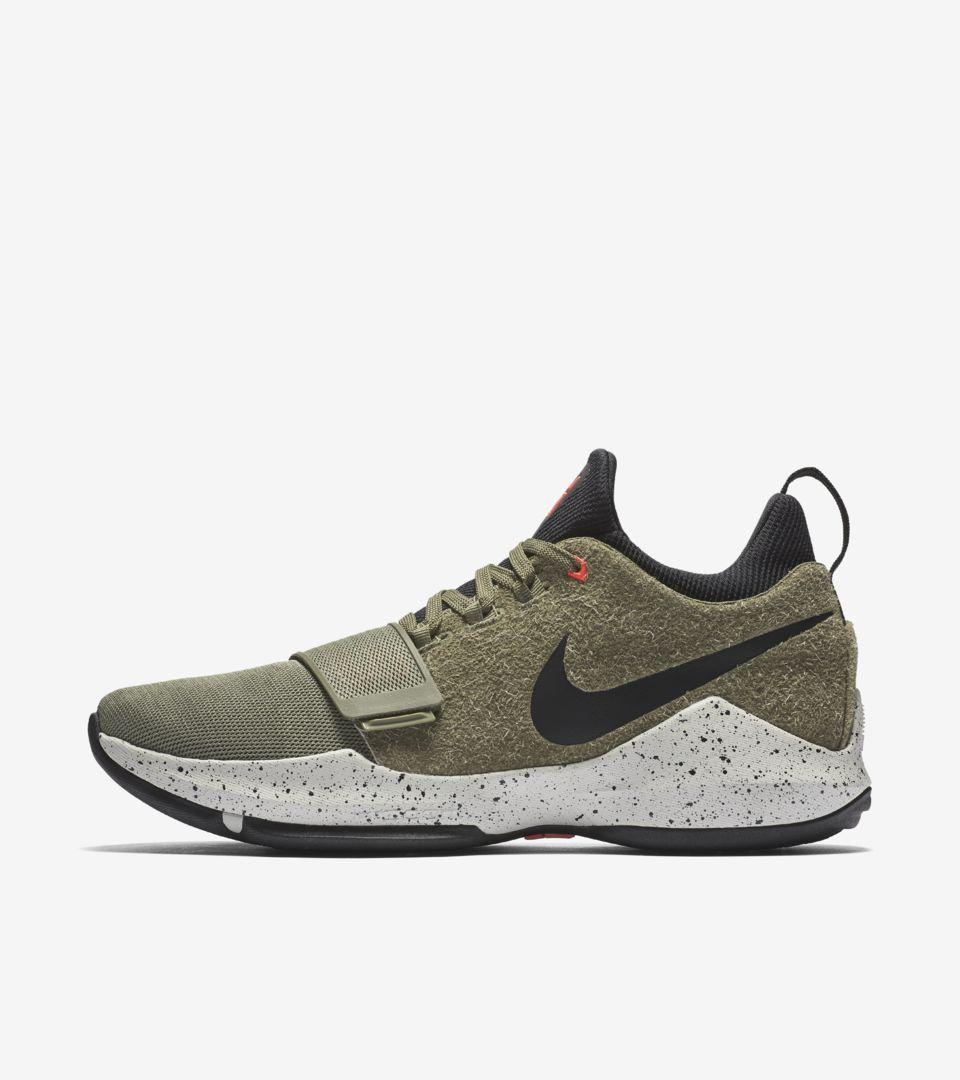 488eb9bcf986 Nike PG1 Elements  Medium Olive   Black  Release Date. Nike+ SNKRS