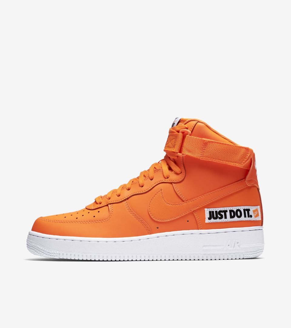 pretty cheap separation shoes various colors Nike Air Force 1 High JDI Collection 'Total Orange & White ...