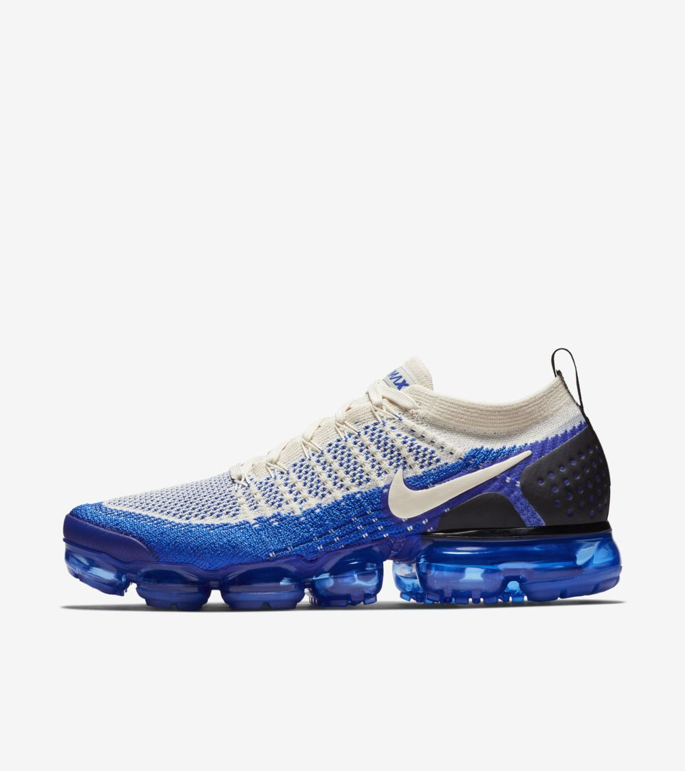 new concept b75a1 9d2e1 Nike Air Vapormax Flyknit 2  Light Cream   Racer Blue  Release Date ...