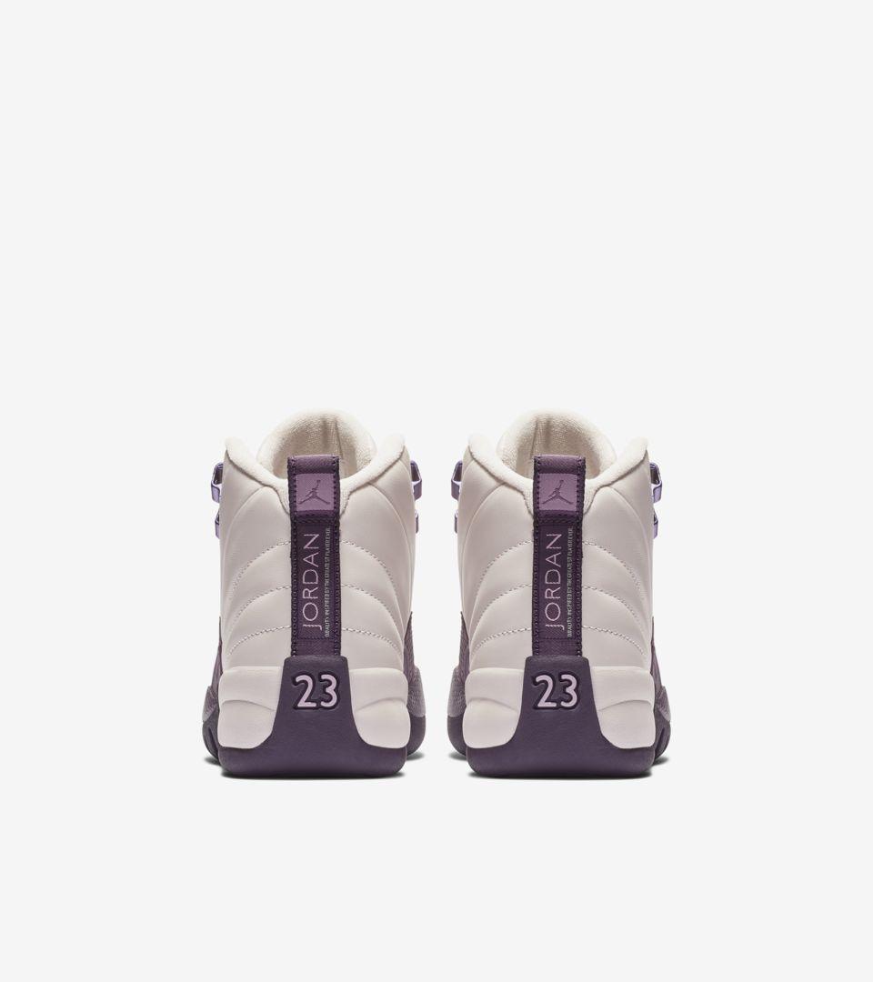 buy popular e3ba9 a6c31 Big Kids  Air Jordan 12 Retro  Desert Sand   Pro Purple   Light Artic