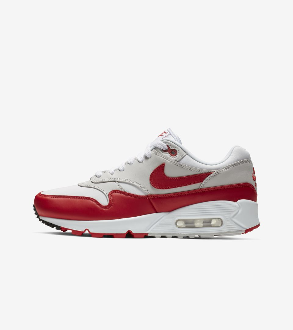 76c2809a96 Women's Air Max 90 / 1 'White & University Red' Release Date. Nike+ ...