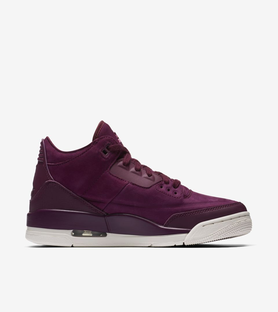 61a41615027 Women s Air Jordan 3  Bordeaux  Release Date. Nike+ SNKRS