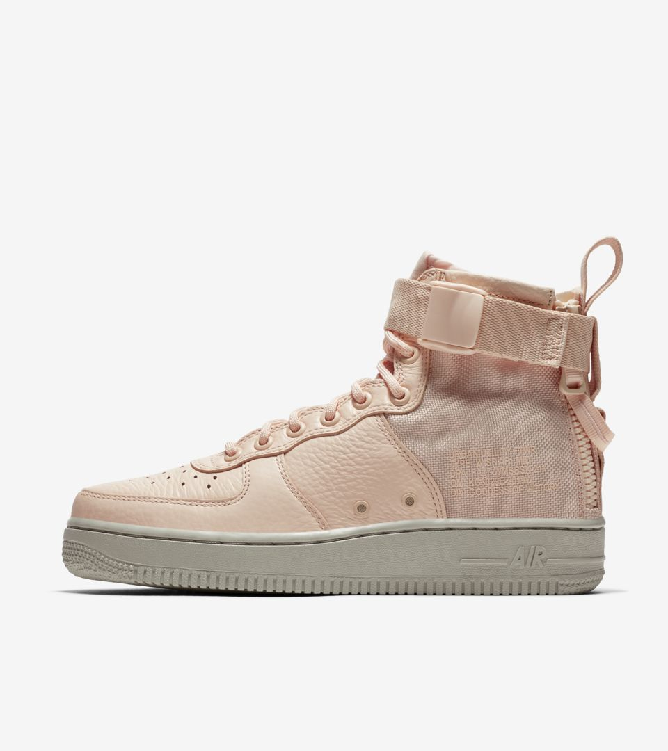 huge selection of 673ff 6e026 Nike Women's SF AF-1 Mid 'Silt Red' Release Date. Nike⁠+ SNKRS
