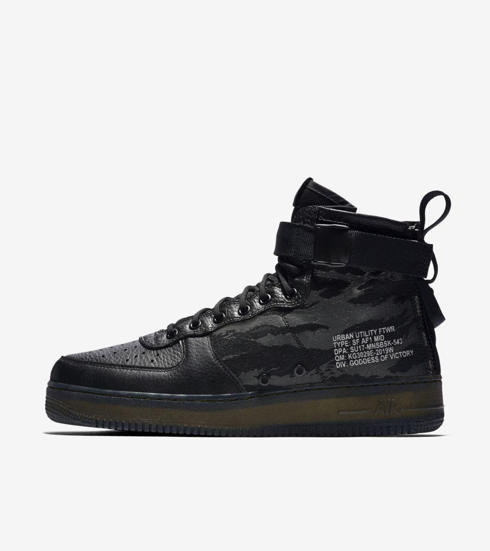 5f66110f3a Nike SF AF-1 Mid 'Black & Cargo Khaki'. Nike+ SNKRS