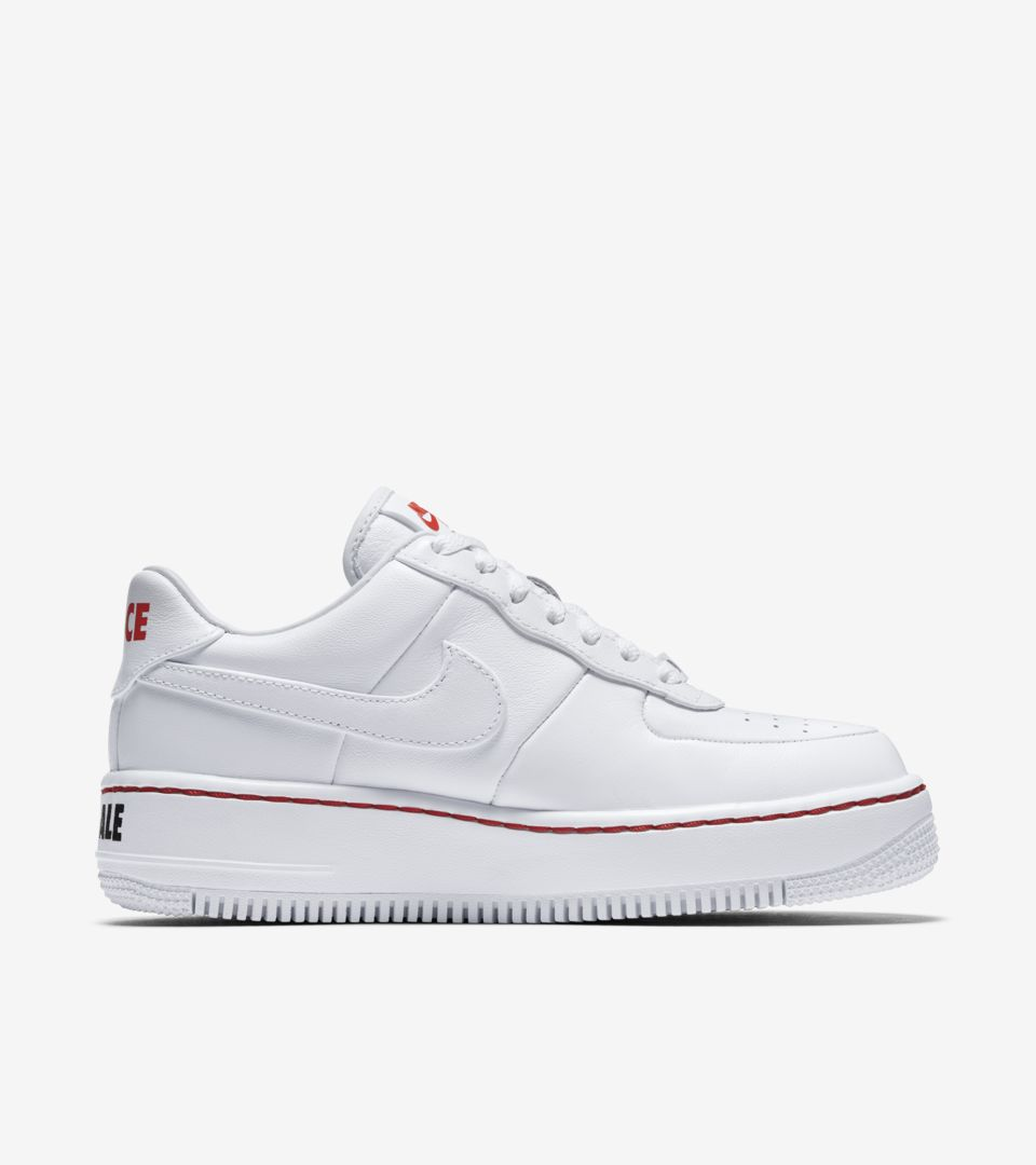 info for 321f2 53976 Nike Women's Air Force 1 Low Upstep 'White & Habanero Red ...