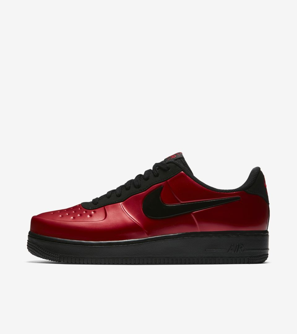 e08208cdd2d43 Nike Air Force 1 Foamposite Pro Cup  Gym Red   Black  Release Date ...