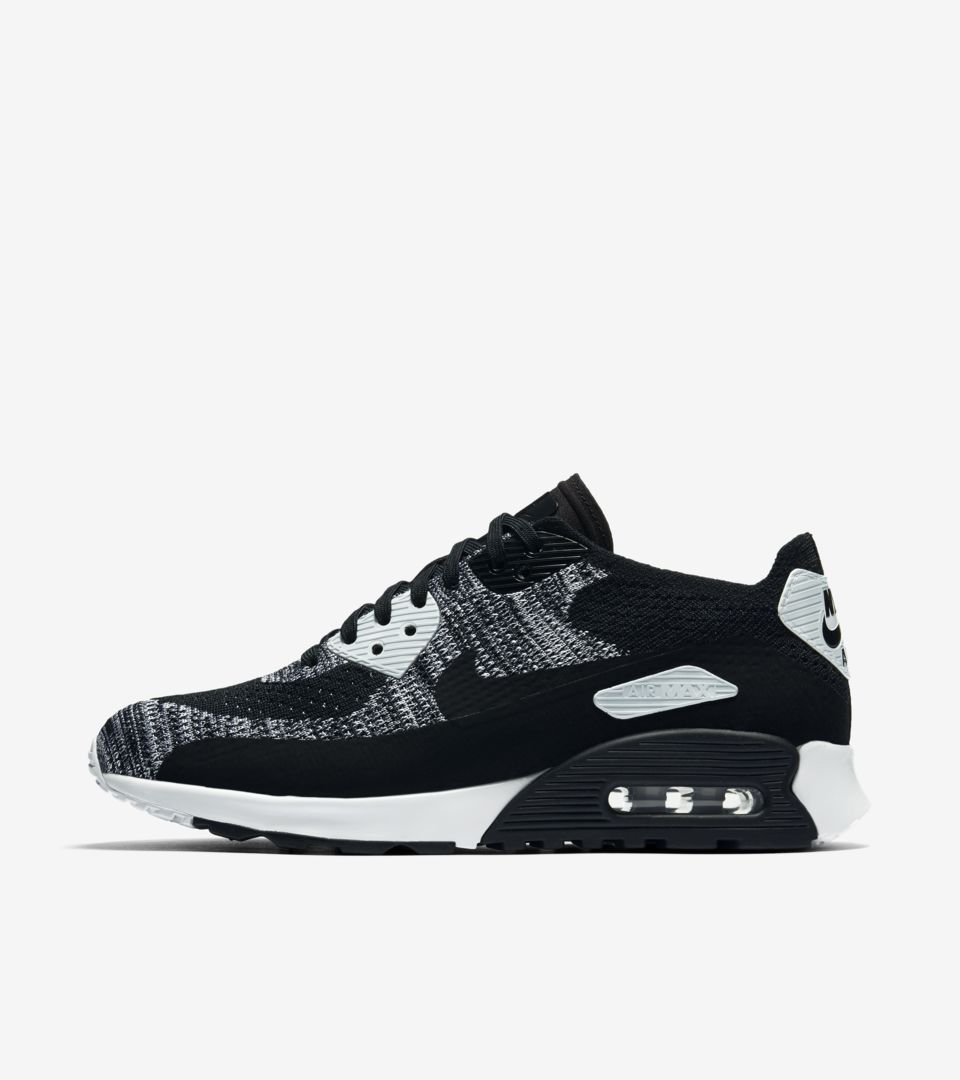 Nike Air Max 90 Ultra 2.0 Flyknit 'Black & Anthracite ...