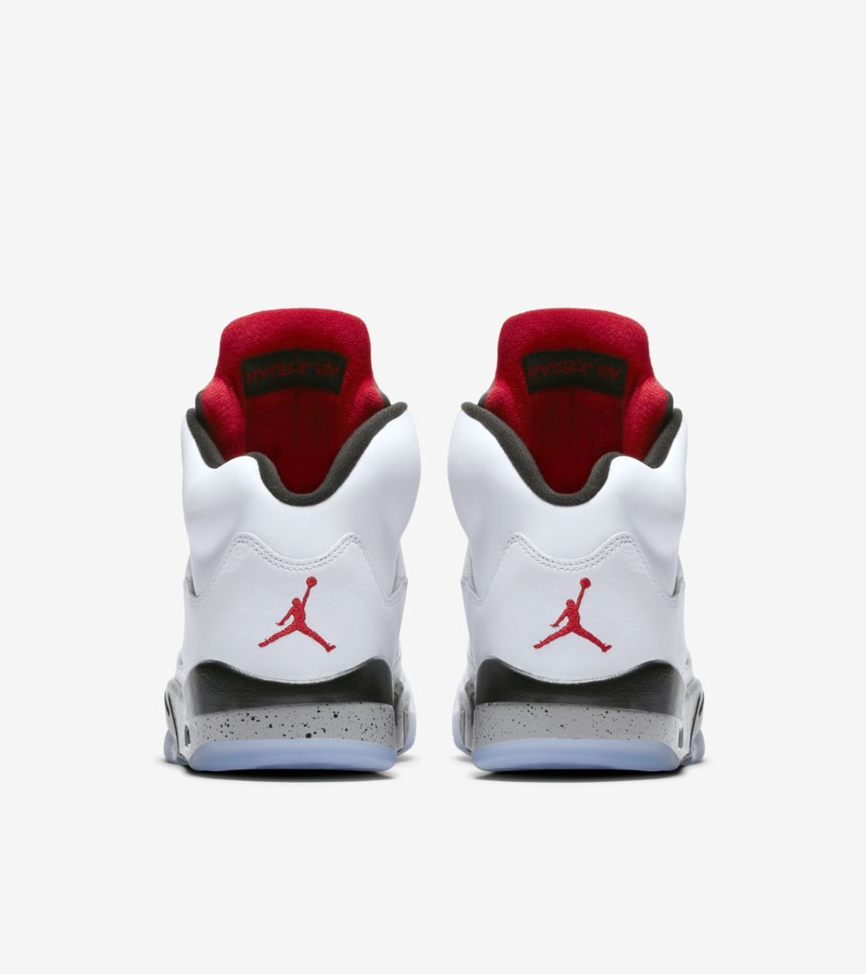 the best attitude 2cebf 5396a Air Jordan 5 Retro 'White & Black & University Red' Release ...
