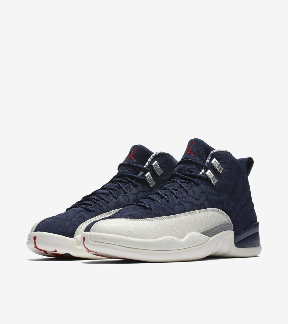 9e58001b535e43 Air Jordan 12 International Flight  College Navy  Release Date. Nike ...
