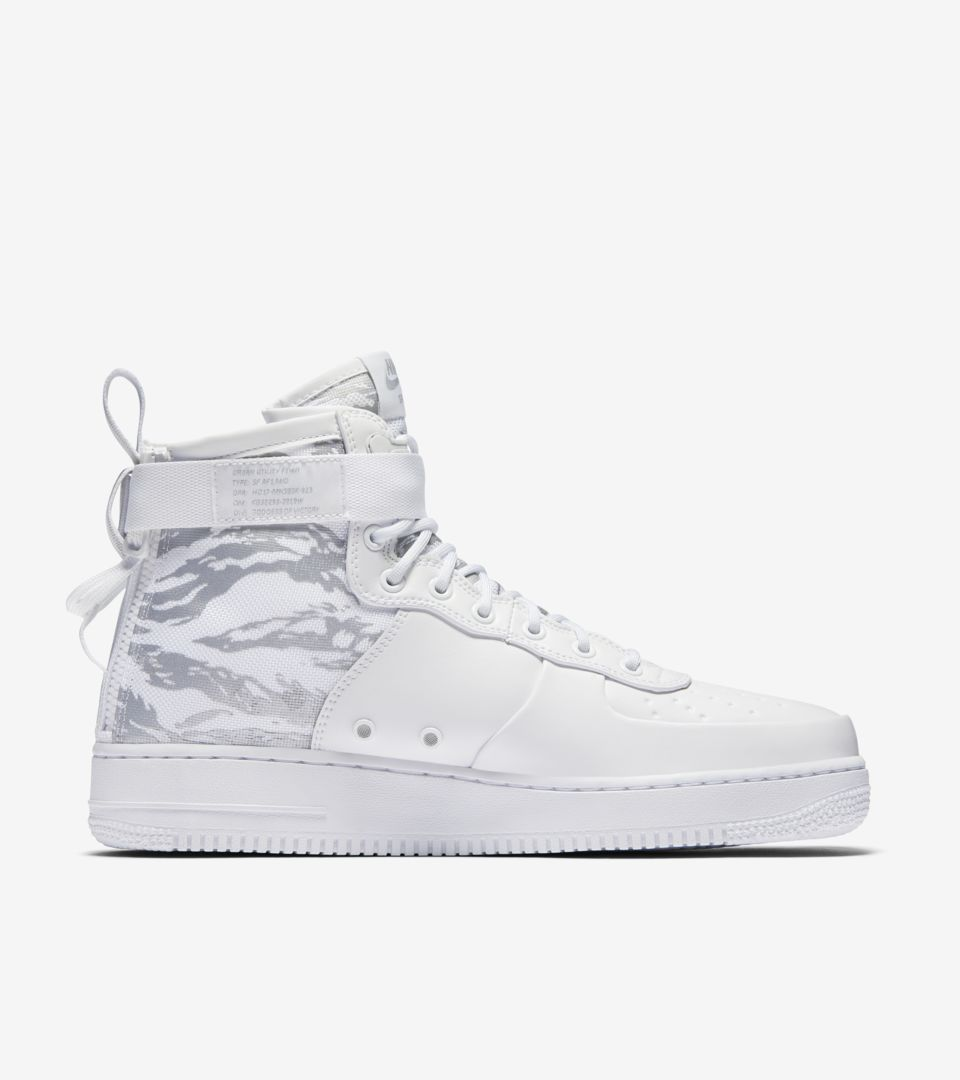 the latest 36fca 8803b Nike SF Air Force 1 Mid 'Triple White' Release Date. Nike⁠+ ...