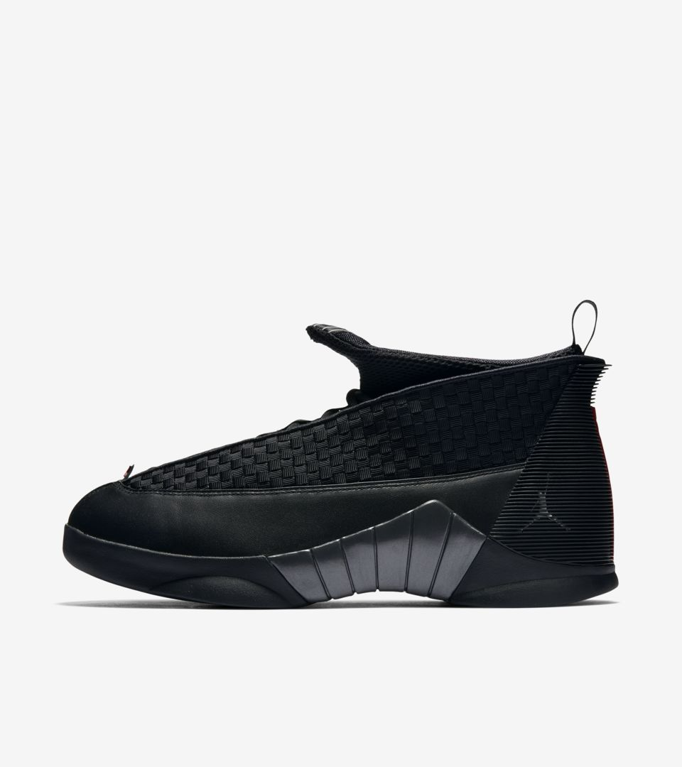 Air Jordan 15 Retro OG  Black   Varsity Red . Nike⁠+ SNKRS 95aeb4fd01ac