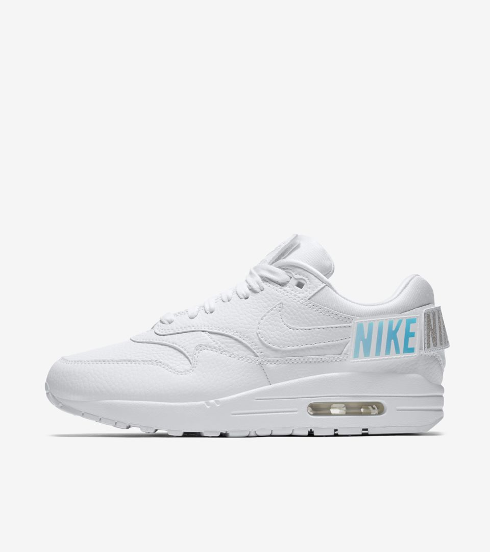 low cost 792f5 67440 Nike Womens Air Max 1-100 Triple White ...