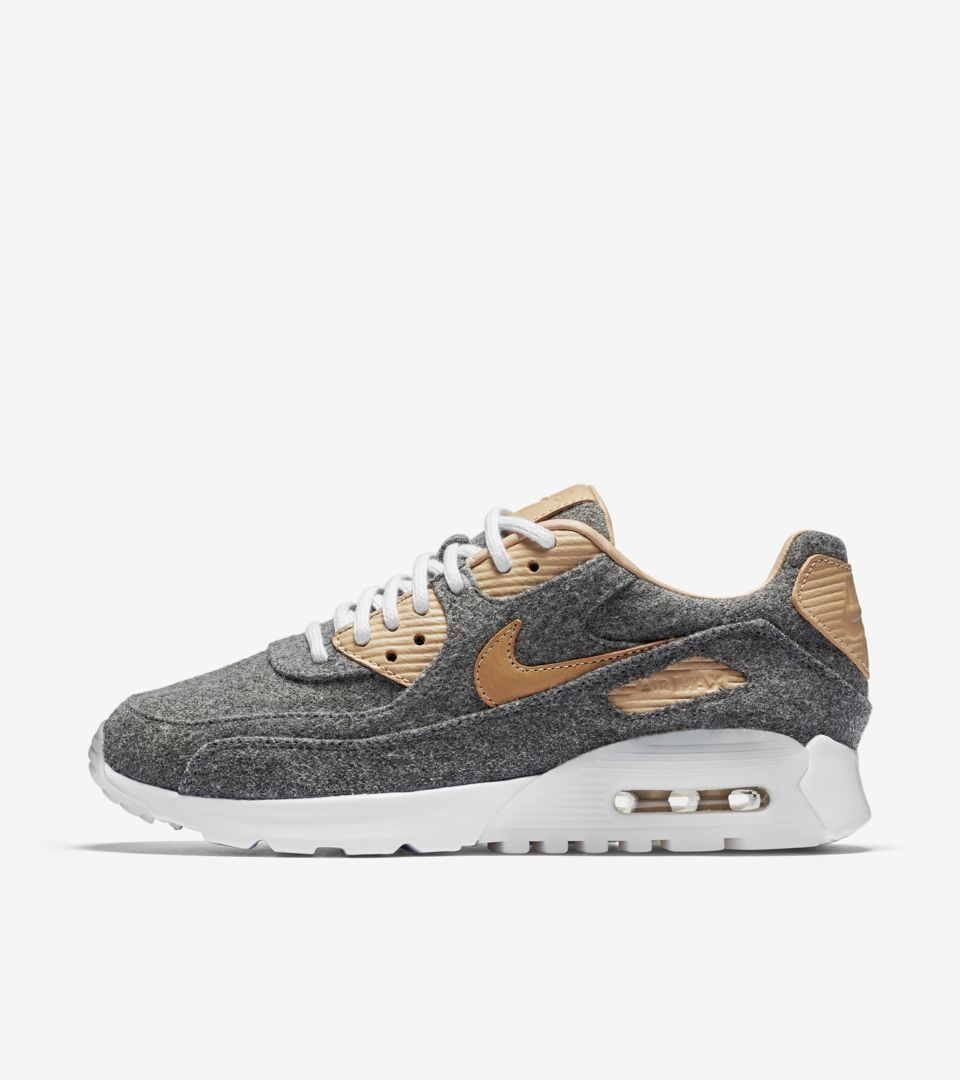 new york 0419e 02ac8 Women's Nike Air Max 90 Ultra PRM 'Cool Grey & Vachetta Tan ...