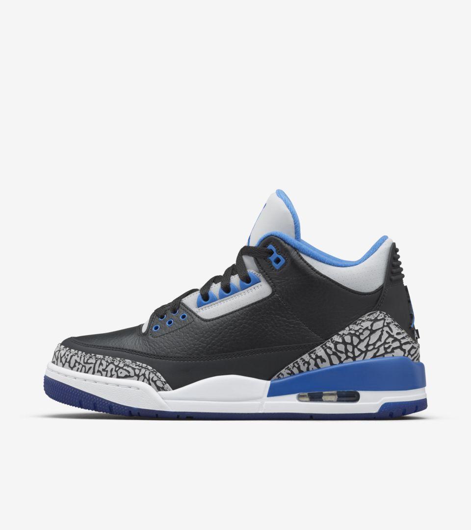 on sale 4c7ca f3bae Air Jordan 3 Retro  Sport Blue . Release Date. Nike+ SNKRS