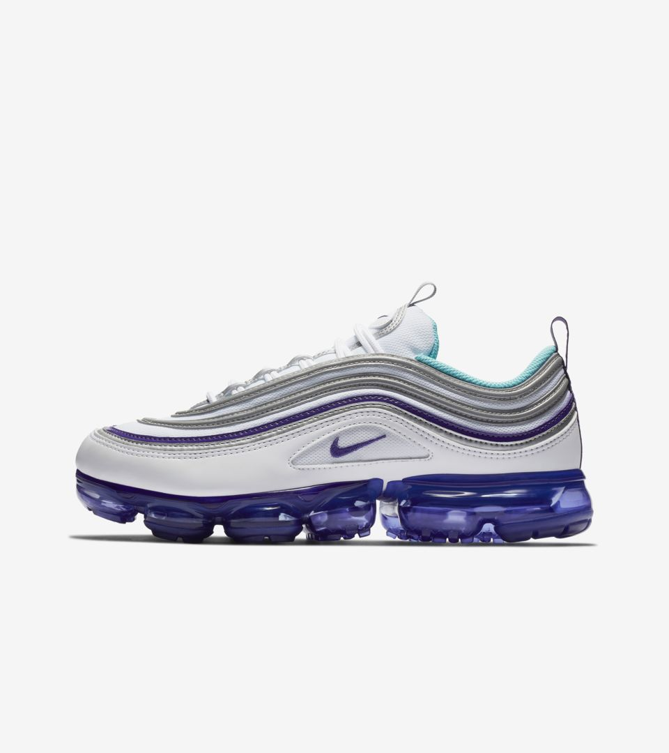 best website 0ed2d 14fa7 Nike Air Vapormax 97 'White & Varsity Purple' Release Date ...