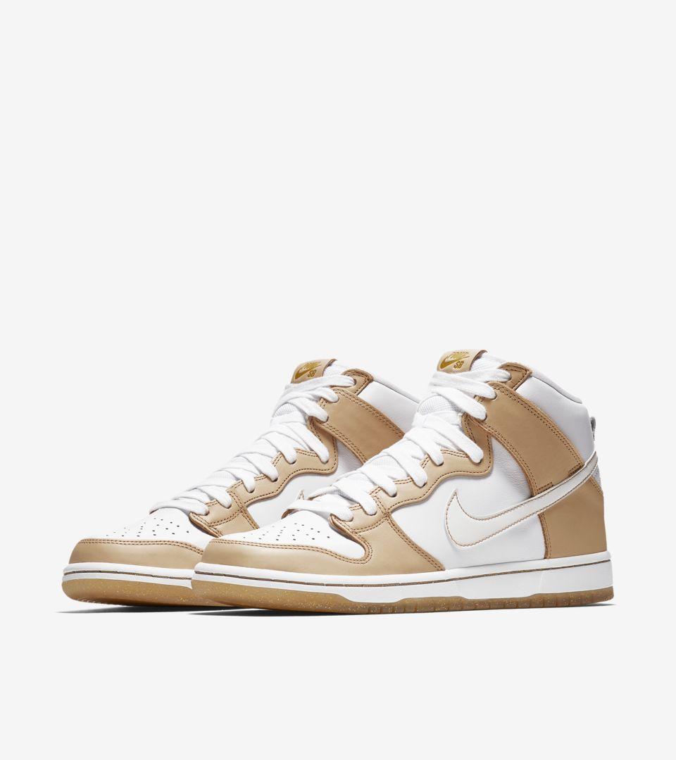 e9bf465a528d Nike SB Dunk High X Premier  Vachetta Tan   White  Release Date ...