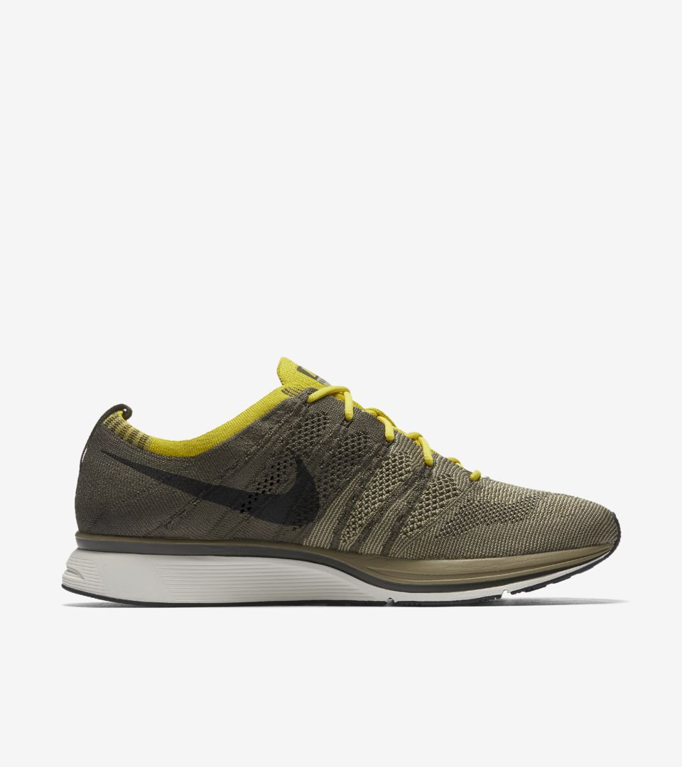 0a5d29d3f0d1 Nike Flyknit Trainer  Cargo Khaki   Bright Citron  Release Date ...