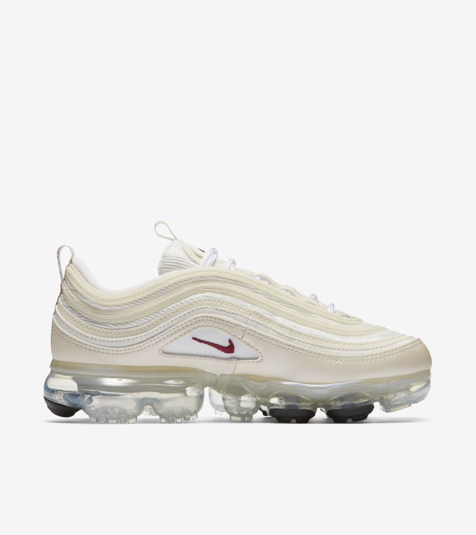 Nike Women s Air VaporMax 97  Metallic Cashmere  amp  Team Red ... dde185879
