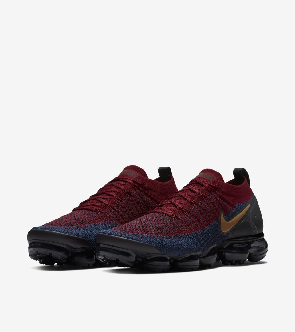 finest selection a2d6a e9329 Nike Vapormax 2 Flyknit 'Team Red & Obsidian & Black ...