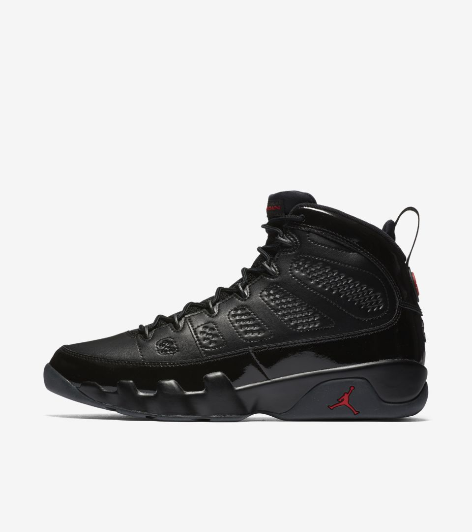 Air Jordan 9 Retro  Black   University Red  Release Date. Nike⁠+ SNKRS 9abb3c9f6