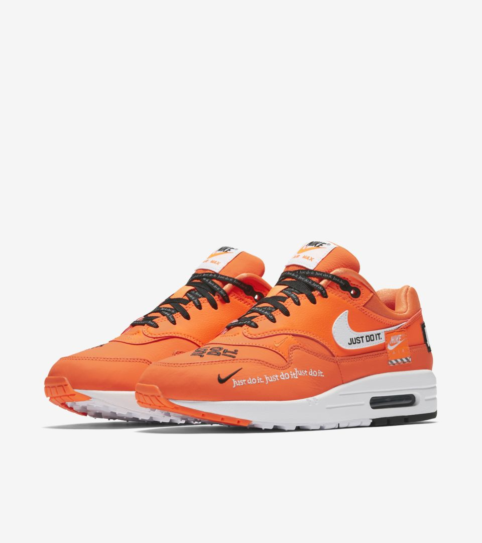 Nike Women s Air Max 1 Just Do It Collection  Total Orange  Release ... fef8328a1