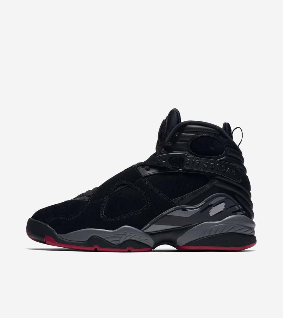Air Jordan 8 Retro  Black   Gym Red  Release Date. Nike⁠+ SNKRS d79335f37