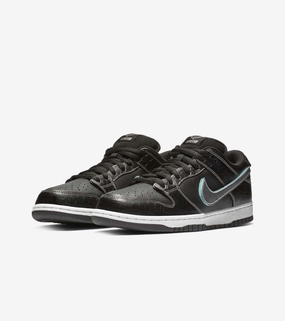 detailed look 39af5 de1a8 Nike SB Low Pro Diamond 'Black & Tropical Twist & Chrome ...